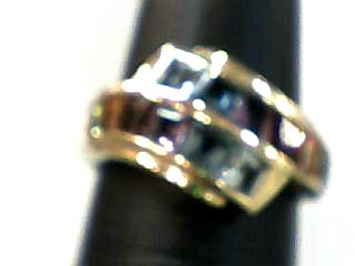 Amethyst Lady's Stone Ring 14K Yellow Gold 2.8dwt Size:6