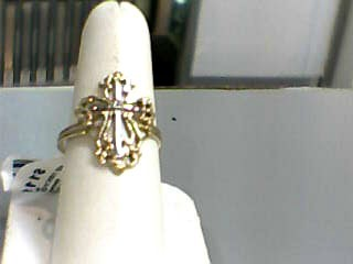 Lady's Gold Ring 10K Yellow Gold 1.2dwt Size:8