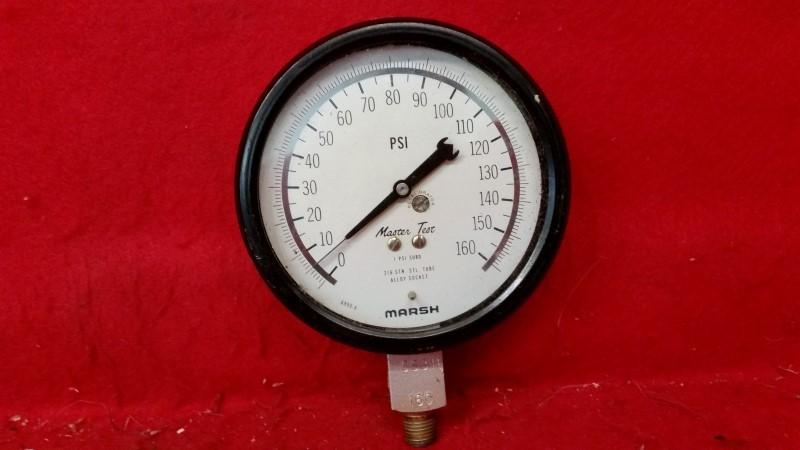 Marsh 6955-8 Master Test Pressure Gauge - 160PSI