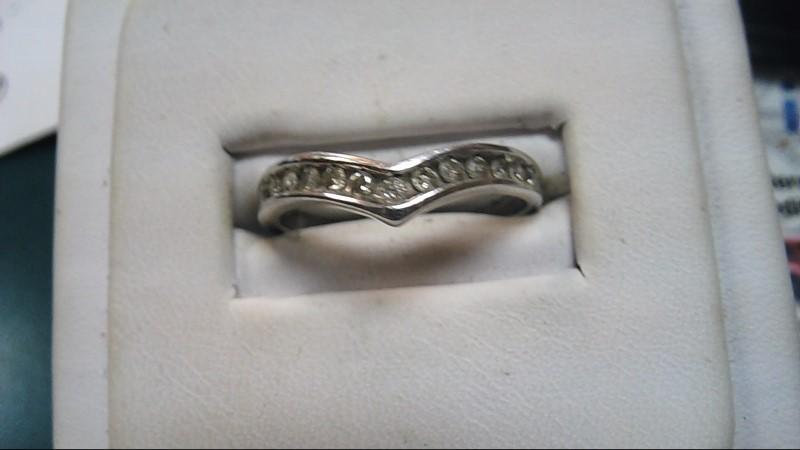 Lady's Gold-Diamond Anniversary Ring 13 Diamonds .26 Carat T.W. 10K White Gold