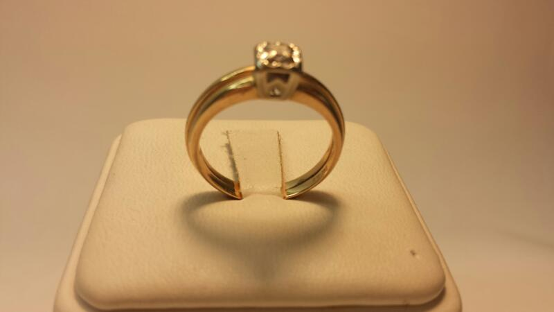 14k Diamond Wedding Set .08ctw - 3dwt - Size 7.5