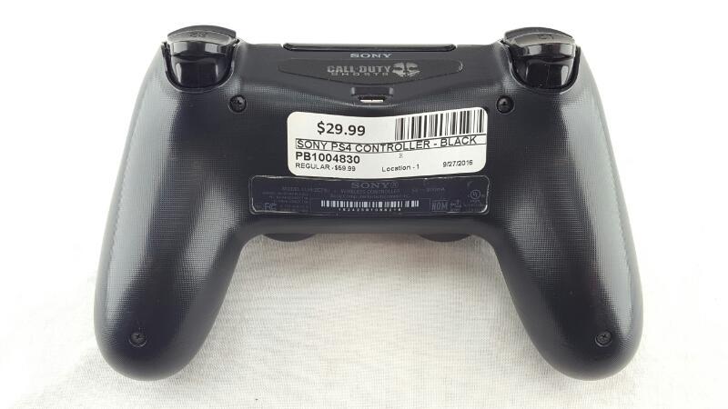 SONY PS4 WIRELESS CONTROLLER BLACK CUH-ZCT1U