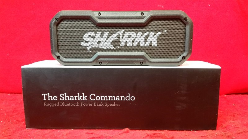 SHARKK COMMANDO Waterproof Bluetooth Speaker IP65 Wireless Outdoor Bluetooth 24