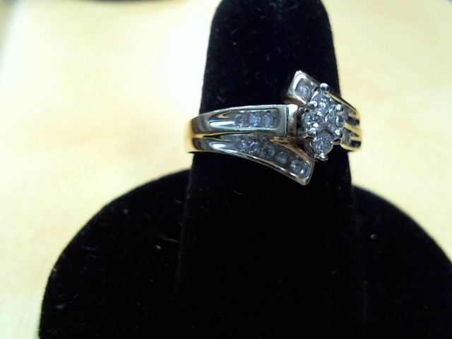 Lady's Diamond Fashion Ring 20 Diamonds .24 Carat T.W. 14K Yellow Gold 4.8g