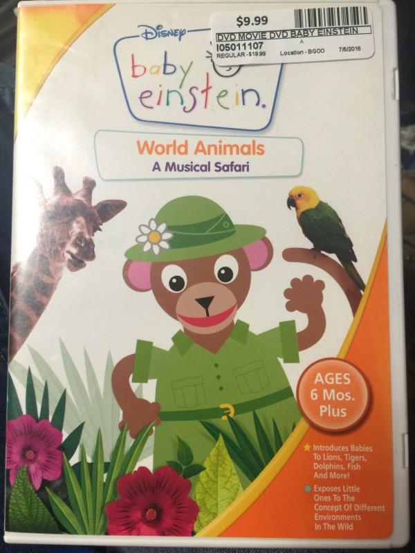 BABY EINSTEIN WORLD ANIMALS A MUSICAL SAFARI