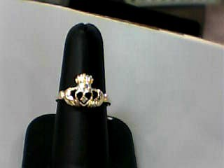 Lady's Gold Ring 10K Yellow Gold 1.1dwt Size:7