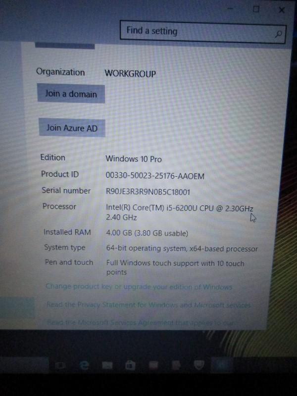 "LENOVO FLEX 3 1580 15.6"", 2.40 GHZ i5, 500GB HDD, 4GB RAM, WINDOWS 10 PRO"