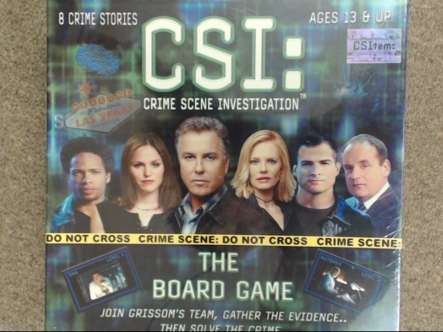 NEW CSI: CRIME SCENCE INVESTIGATION BOARD GAME FACTORY SEALED NIB