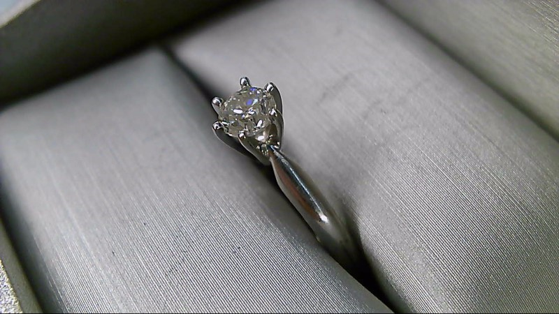 Lady's Diamond Solitaire Ring .40 CT. 14K White Gold 2.4g