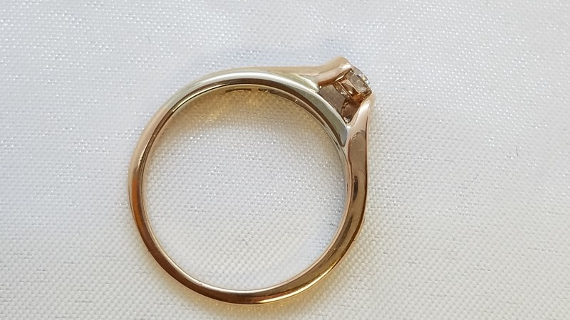 Lady's Diamond Engagement Ring 11 Diamonds .54 Carat T.W. 14K Rose Gold 3.6g