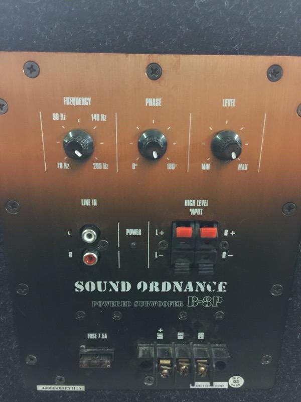 SOUND ORDNANCE Car Speakers/Speaker System B-8P