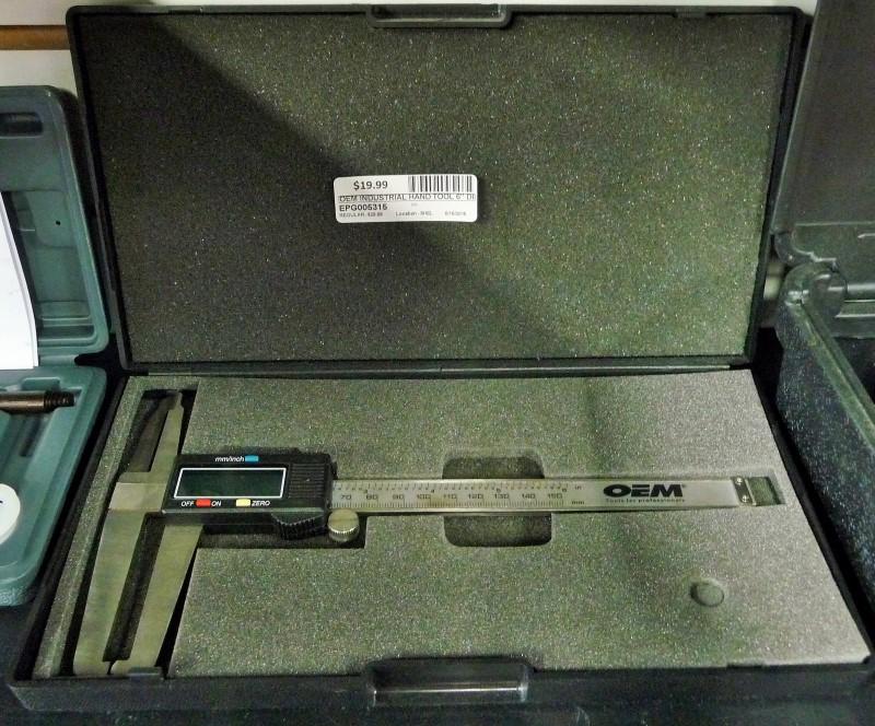 """OEM INDUSTRIAL Hand Tool 6"""" DIGITAL DIAL CALIPER"""