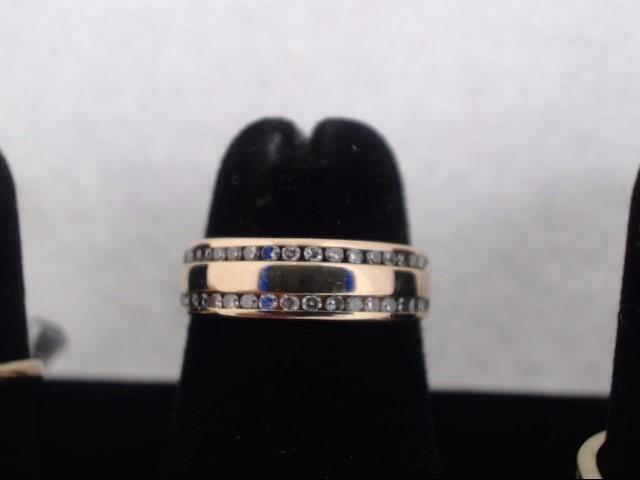 Lady's Diamond Fashion Ring 36 Diamonds .36 Carat T.W. 14K Yellow Gold 2.5g