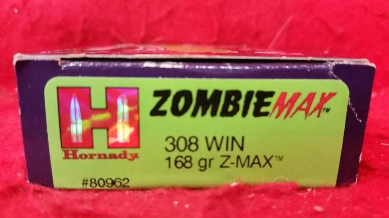 Hornady 308 Win ZombieMAX 168gr Z-Max #80962