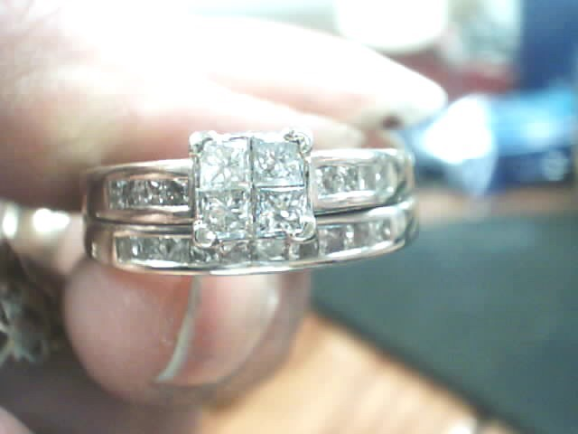Lady's Diamond Wedding Set 22 Diamonds 1.20 Carat T.W. 14K White Gold 5.3dwt