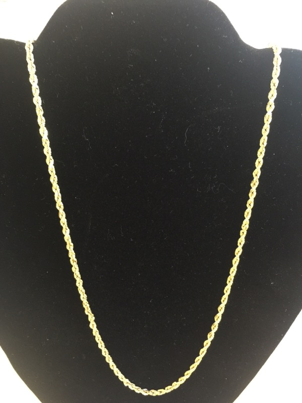 """22"""" Gold Chain 14K Yellow Gold 7.4dwt"""