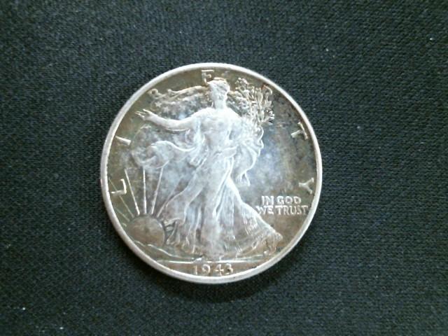 UNITED STATES Silver Coin 1943 WALKING LIBERTY HALF DOLLAR