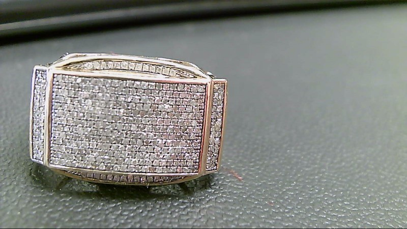 Gent's Diamond Fashion Ring 350 Diamonds 3.50 Carat T.W. 10K Yellow Gold 8.2g