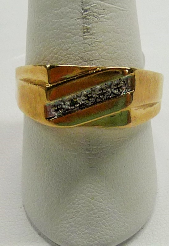 Gent's Gold Wedding Band 10K Yellow Gold 2.33dwt