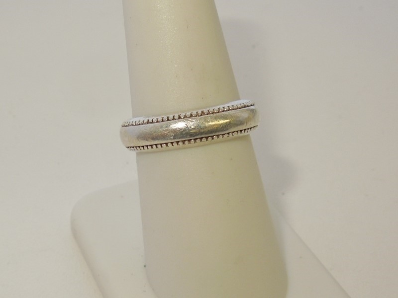 Lady's Silver Wedding Band 925 Silver 4.5g Size:7