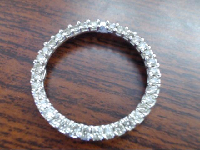 Gold-Multi-Diamond Pendant 36 Diamonds .72 Carat T.W. 10K White Gold 3.5g