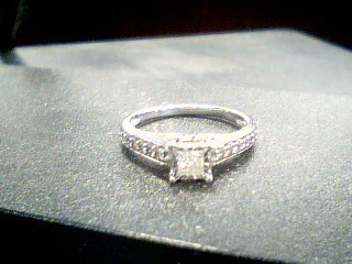 Lady's Diamond Solitaire Ring .32 CT. 10K Yellow Gold 2.7g