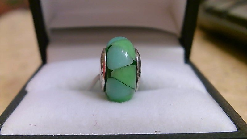 Pandora Murano Teal Green Charm 925 Silver