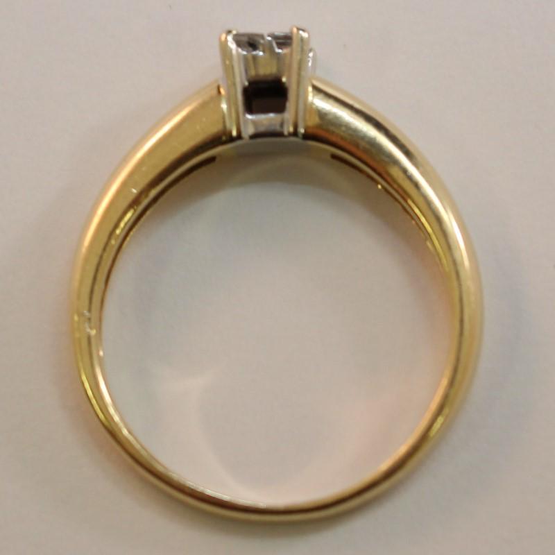 14K Yellow Gold 4 Princess Cut Diamond Engagement Ring Size 8.5