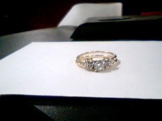 Lady's Diamond Wedding Set 9 Diamonds .73 Carat T.W. 14K Yellow Gold 4.1g