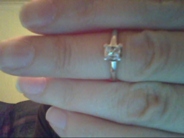 Lady's Diamond Engagement Ring .50 CT. 14K White Gold 2.2g