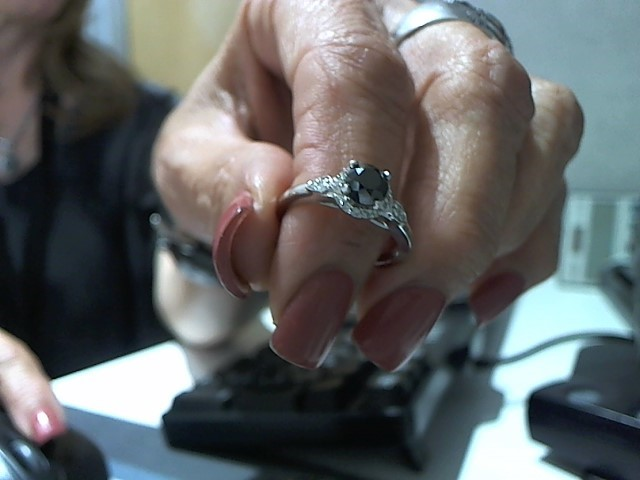 Lady's Diamond Engagement Ring .20 CT. 14K White Gold 4g