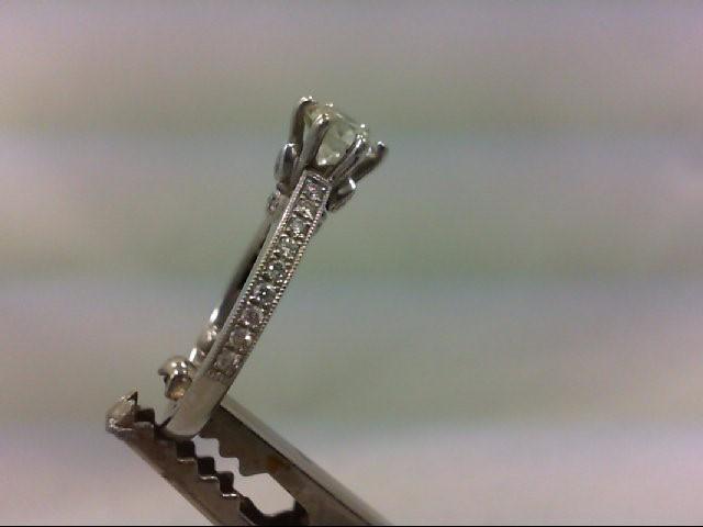 Lady's Diamond Engagement Ring 29 Diamonds 1.00 Carat T.W. 14K White Gold 3.63g