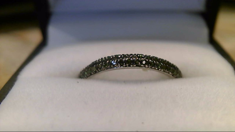 Geninue Green Tourmaline Lady's Silver & Stone Ring 925 Silver 1.42g
