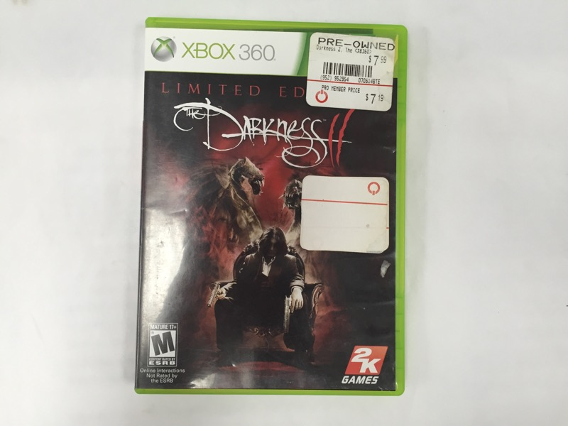 Darkness II: Limited Edition (Microsoft Xbox 360, 2012)