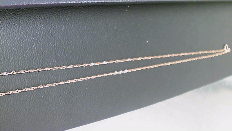 Gold Singapore Chain 10K Rose Gold 1.6g