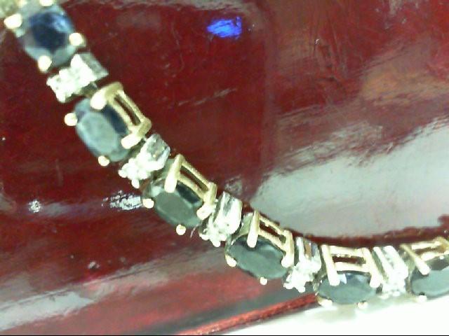 Sapphire Gold-Diamond & Stone Bracelet 60 Diamonds .300 Carat T.W.