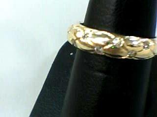 Lady's Diamond Wedding Band 10 Diamonds .20 Carat T.W. 10K Yellow Gold 1.9dwt