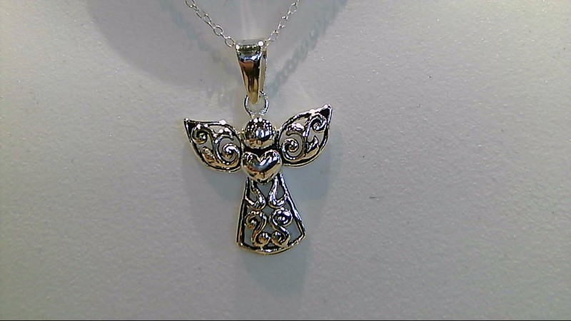 Lady's sterling silver  925 angel 18inch necklace