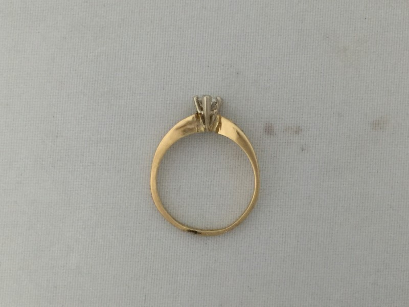 Dia. Solitaire Ring 7 Dia. .56ctw 14KY 2.4g Size:7