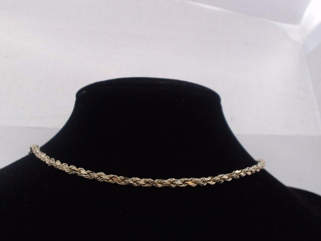 "20"" Gold Rope Chain 10K Yellow Gold 13.4g"