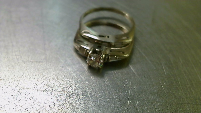 Lady's Diamond Engagement Ring 6 Diamonds .60 Carat T.W. 14K White Gold 4.2g