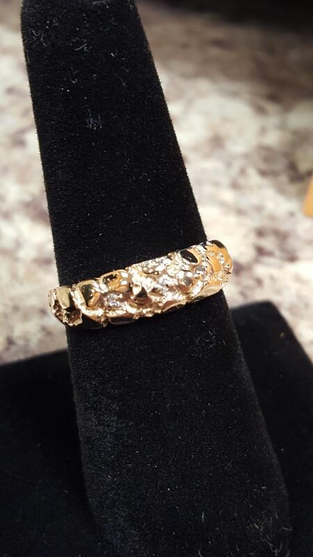 Lady's Diamond Fashion Ring 2 Diamonds .02 Carat T.W. 14K Yellow Gold 2.3dwt