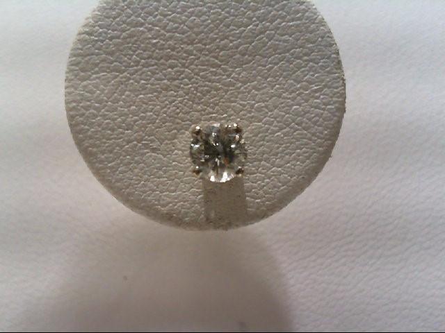 Gold-Diamond Earrings 2 Diamonds .50 Carat T.W. 14K White Gold 0.9g