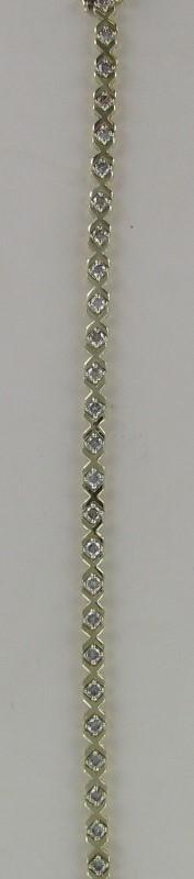 Gold-Diamond Bracelet 28 Diamonds 2.80 Carat T.W. 14K Yellow Gold 9.4dwt