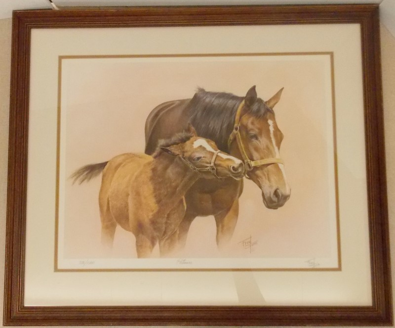 "FRED STONE ""PATIENCE"" FRAMED SIGNED NUMBERED 376/1000 PRINT - SIZE 33 1/2"" X 28"""