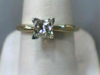 Lady's Diamond Solitaire Ring .81 CT. 14K Yellow Gold 2dwt Size:7.3