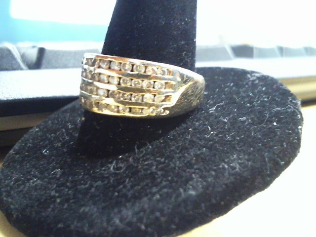Lady's Diamond Ring 48 Diamonds .96 Carat T.W. 10K Yellow Gold 3.3g