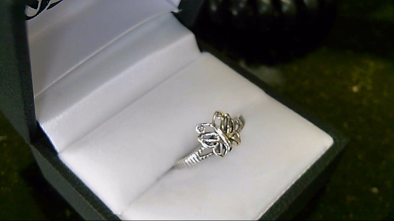 Lady's sterling silver 925 butterfly ring sz 5.5