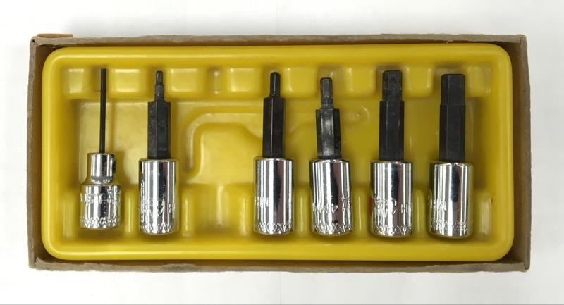 "MAC Tools 6 Piece Metric Hex Drivers Set 1/4"" Drive 1.5, 2, 3, 4, 5, & 6mm"