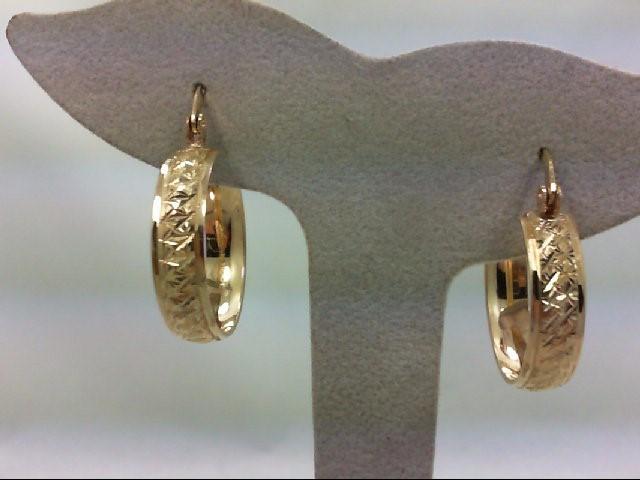 Gold Earrings 10K Yellow Gold 5.6g